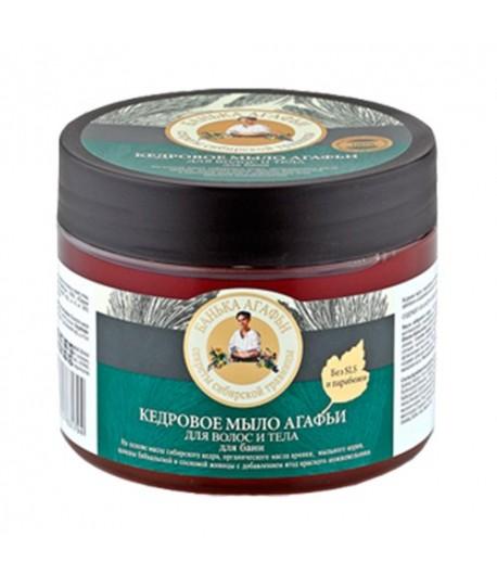 Mydło cedrowe do ciała i włosów - Receptury Babci Agafii 300 ml