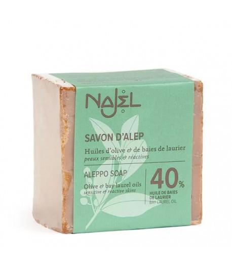 Mydło Oliwkowo - Laurowe z Aleppo Premium 40% - Najel 185g