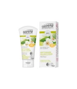 Matujący krem przywracający równowagę z bio-nagietkiem i bio-zieloną herbatą - Lavera 50 ml