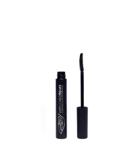 Mascara wydłużająco-podkręcająca IMPECCABLE 01 czarna - PuroBIO