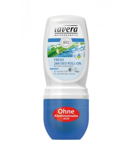 Dezodorant roll-on FRESH z bio-trawą cytrynową - Lavera 50 ml
