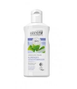 Rozjaśniający tonik do twarzy z miłorzębem japońskim i bio-winogronem - Lavera 125 ml