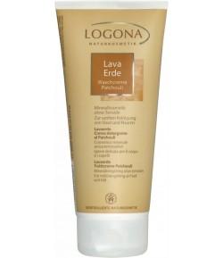 Glinka brązowa w kremie do mycia twarzy, ciała i włosów z Paczuli - Logona 200 ml