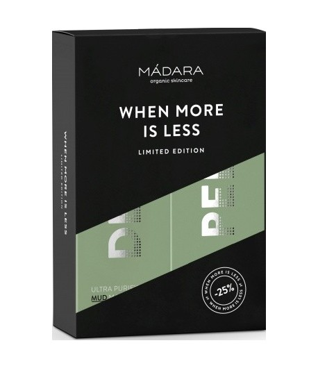 Zestaw Duo Ultra oczyszczająca maseczka DETOX + Aktywana rozjaśniająco peelingująca maseczka AHA - Madara 60 ml + 60 ml