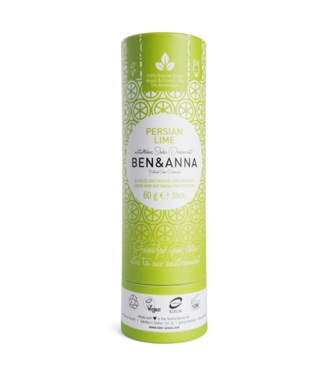 Naturalny dezodorant PERSIAN LIME - sztyft kartonowy - BEN&ANNA 60g