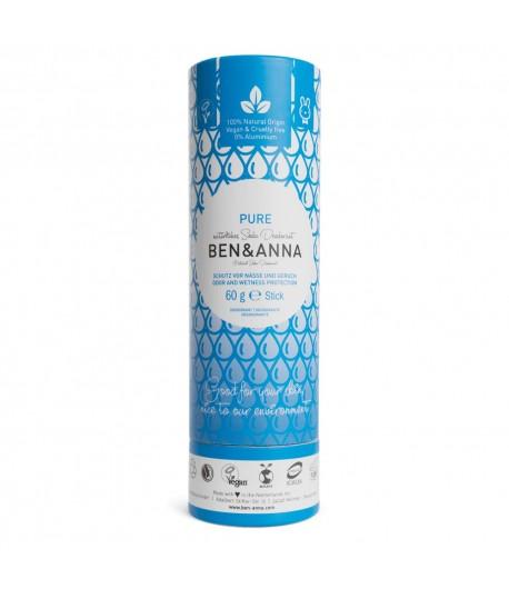 Naturalny dezodorant PURE - sztyft kartonowy - BEN&ANNA 60g