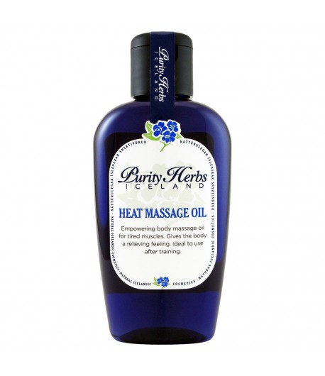 Heat massage Oil - Purity Herbs Iceland 125 ml