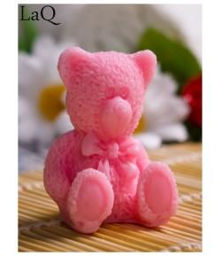 Mydło glicerynowe - mały Miś - różowy - LaQ 30g