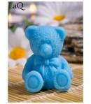 Mydło glicerynowe - mały Miś - niebieski - LaQ 30g