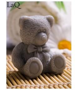 Mydło glicerynowe - mały Miś - szary - LaQ 30g