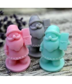 Mydło glicerynowe - mały Św. Mikołaj - różowy - LaQ 30g