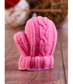 Mydło glicerynowe - rękawiczka - różowa - LaQ 100 g