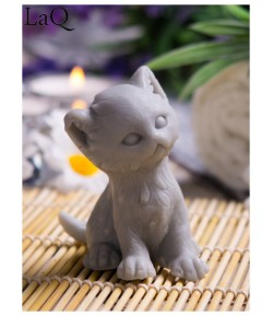 Mydło glicerynowe - Kotek Puszek - szary - LaQ 50 g