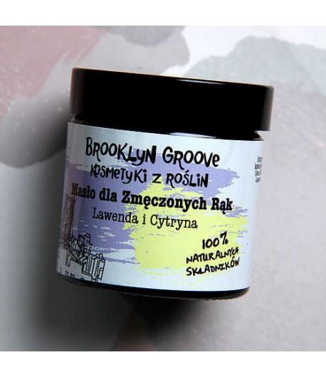 Masło do zmęczonych rąk - Lawenda i Cytryna - Brooklyn Groove 60 ml