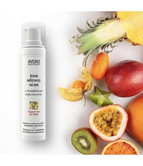 Krem odżywczy na noc z kompleksem superowoców - Superfruits By Night - Avebio 50 ml