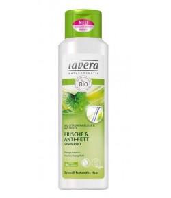 Szampon odświeżający do włosów przetłuszczających się z bio-miętą i bio-melisą cytrynową - Lavera 250 ml