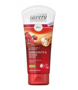 Odżywka do włosów farbowanych z bio-żurawiną i bio-awokado - Lavera 200 ml
