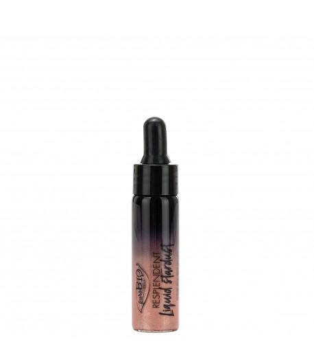 Rozświetlacz w płynie STARDUST 02 Pink gold - PuroBIO 12 ml