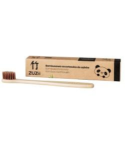 Bambusowa szczoteczka do zębów dla dzieci - kolor brązowy - Zuzii