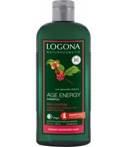 Wzmacniający szampon Age Energy z bio-kofeiną - Logona 250 ml