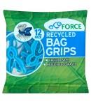 Eko spinacze do woreczków foliowych wyprodukowane z tworzuwa z recyclingu - EcoForce 12 szt.