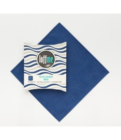 Wielorazowy ręcznik do demakijażu Normal granatowy - Loffme