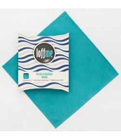 Wielorazowy ręcznik do demakijażu Normal turkusowy - Loffme