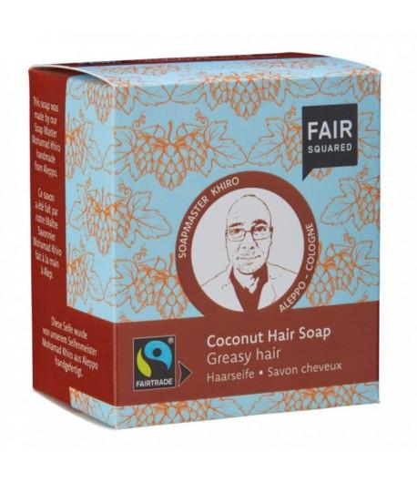 Kokosowy szampon w kostce do włosów tłustych - Fair Squared 2x80g