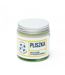 PLISZKA - Naturalna świeca sojowa - cytrynowa - Mydlarnia Cztery Szpaki