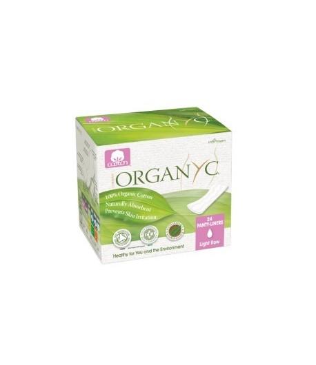 Ultra cienkie wkładki higieniczne, pakowane pojedynczo - 24 szt. Organyc