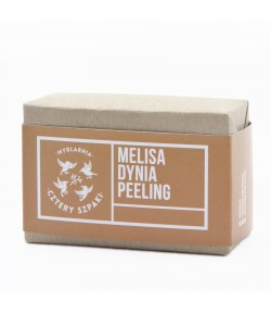 Mydło peelingujące Melisa i Dynia - Mydlarnia Cztery Szpaki 110g