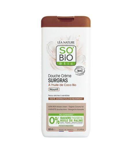 Ultra bogaty krem pod prysznic z olejem kokosowym - SO'BiO Etic 650 ml