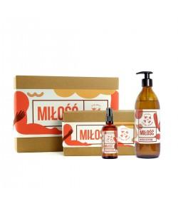 Zestaw Miłość: olejek do masażu i mydło w płynie - Mydlarnia Cztery Szpaki