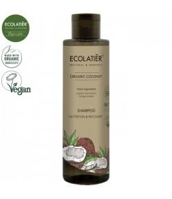 Szampon do włosów z organicznym kokosem Odżywienie i Regeneracja - ECOLATIER 250 ml