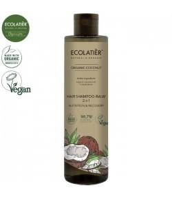 Szampon - Balsam do włosów 2w1 z organicznym kokosem - ECOLATIER 350 ml