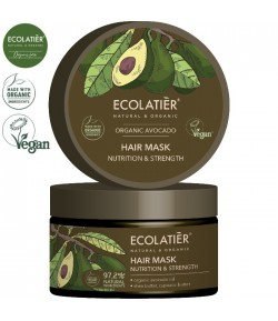 Odżywcza maska do włosów z organicznym olejem z awokado - ECOLATIER 250 ml