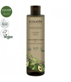 Szampon - Balsam 2w1  do włosów z organicznym olejem z awokado - ECOLATIER 350 ml