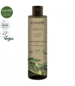 Szampon - Balsam do włosów 2w1 Miękkość i Połysk z organiczną oliwą z oliwek - ECOLATIER 350 ml