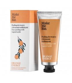 Orange Energy - peeling do twarzy z kwasami kwiatowymi - Make Me Bio 40 ml