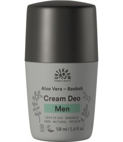 Kremowy dezodorant roll-on z aloesem i baobabem dla mężczyzn - URTEKRAM 50 ml
