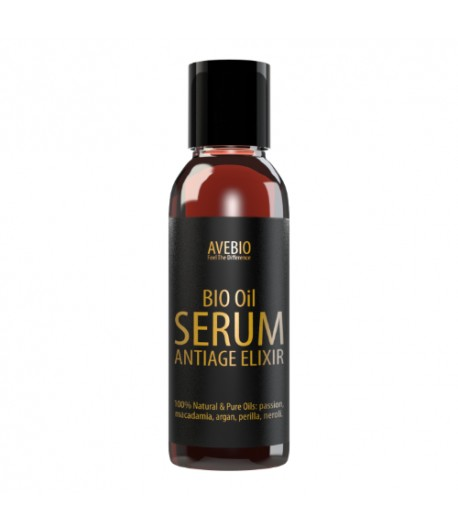 Bio Oil Serum AntiAge Elixir - naturalne serum przeciwstarzeniowe - AVEBIO 50 ml