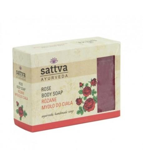 Mydło glicerynowe Róża - Sattva 125g