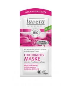 Maseczka nawilżająca z bio-różą i olejkami bio-awokado i bio-makadamia - Lavera 2 x 5ml