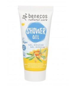 Odżywczy żel pod prysznic z rokitnikiem i pomarańczą - Beneco 200 ml