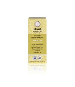 Biała Lilia - ajurwedyjski olejek do twarzy i ciała - Khadi 10m