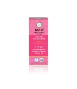 Róża -ajurwedyjski olejek do twarzy i ciała - Khadi 10ml